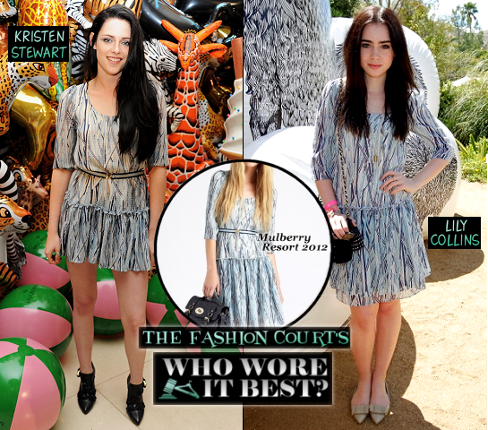 Who Wore It Best? Kristen Stewart & Lily Collins Go Mulberry Blue!