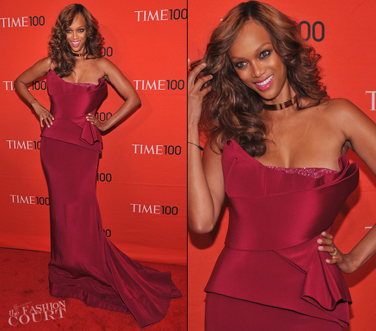 Tyra Banks in Marchesa | TIME 100 Gala