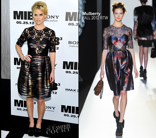 Alice Eve in Mulberry | 'Men In Black 3' NY Premiere