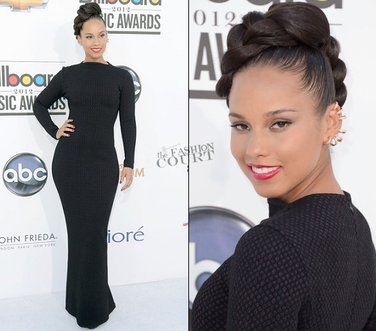 Alicia Keys in Azzedine Alaïa Couture | 2012 Billboard Music Awards