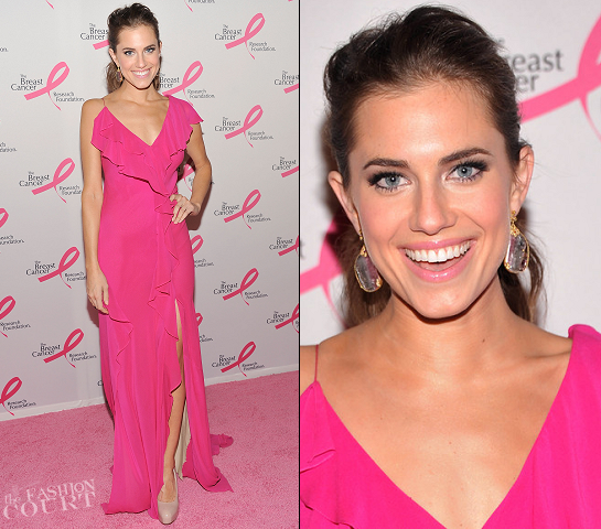 Allison Williams in Donna Karan | The Hot Pink Party: My Fair Evelyn's Dream