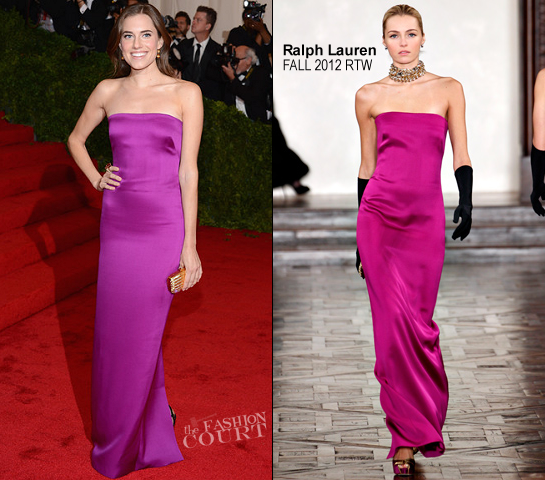Allison Williams in Ralph Lauren Collection | 2012 MET Gala