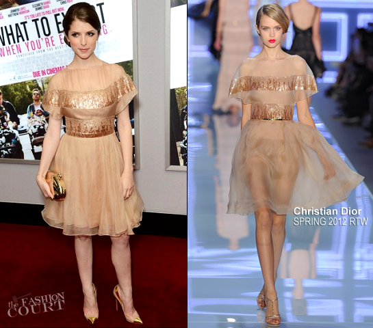 Anna Kendrick in Christian Dior | 'What to Expect When You're Expecting' London Premiere