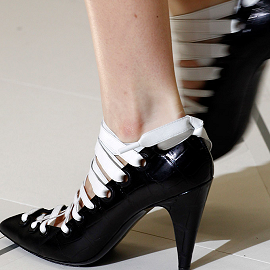 Balenciaga Fall 2012 Pumps with Lace Up Detail