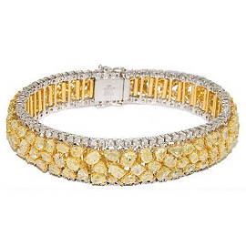 Blue Nile Red Carpet White and Yellow Diamond Cuff