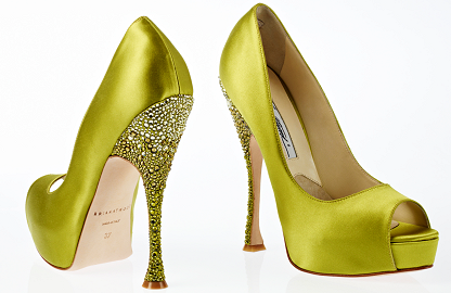 Brian Atwood Spring 2012 YVESSE Strass Peep Toe Pumps