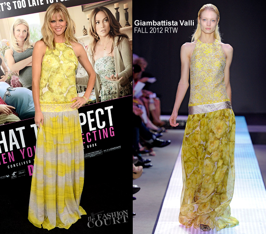 Brooklyn Decker in Giambattista Valli | 'What to Expect When You're Expecting' Hollywood Premiere