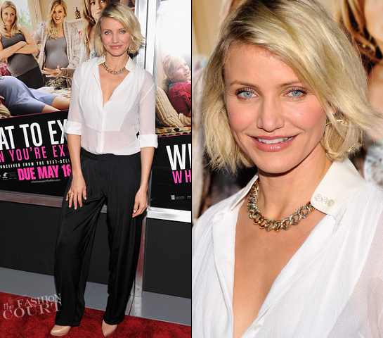 Cameron Diaz in Stella McCartney | 'What To Expect When You're Expecting' NY Screening