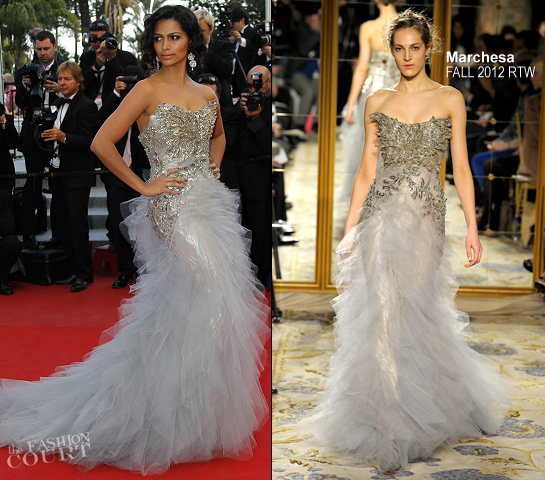 Camila Alves in Marchesa | 'Mud' Premiere - 2012 Cannes Film Festival