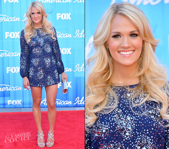 Carrie Underwood in Badgley Mischka | FOX's 'American Idol 2012' Finale Results Show