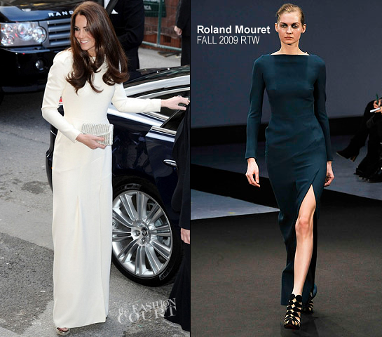 Catherine, Duchess of Cambridge in Roland Mouret | Dinner at Thirty Club