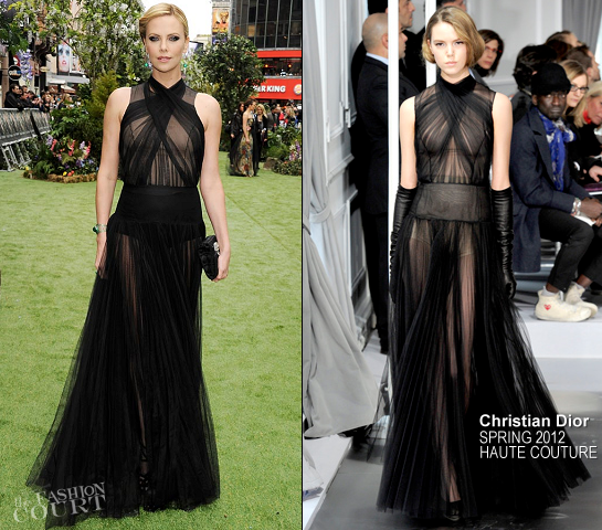 Charlize Theron in Christian Dior Couture   'Snow White and the Huntsman' London Premiere