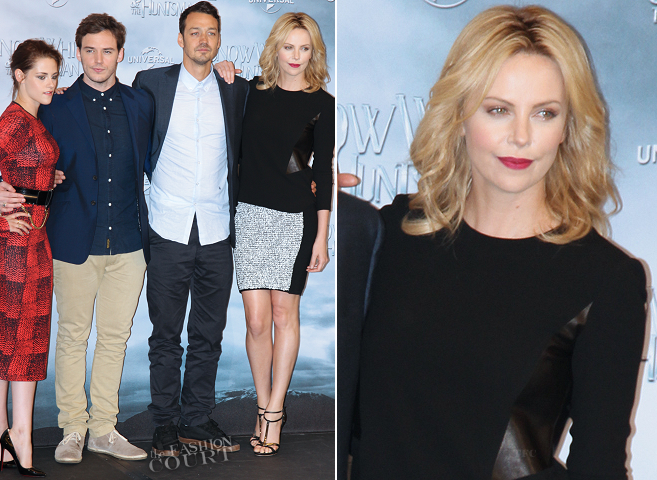 Charlize Theron in Rag & Bone and Alexander Wang | 'Snow White and the Huntsman' Berlin Fan Event