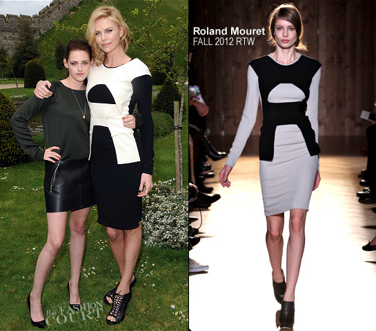 Charlize Theron in Roland Mouret | 'Snow White and the Huntsman' Arundel Photocall