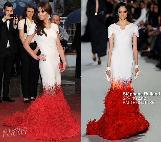 Cheryl Cole in Stéphane Rolland Couture   2012 Cannes Film Festival - 'Amour' Premiere