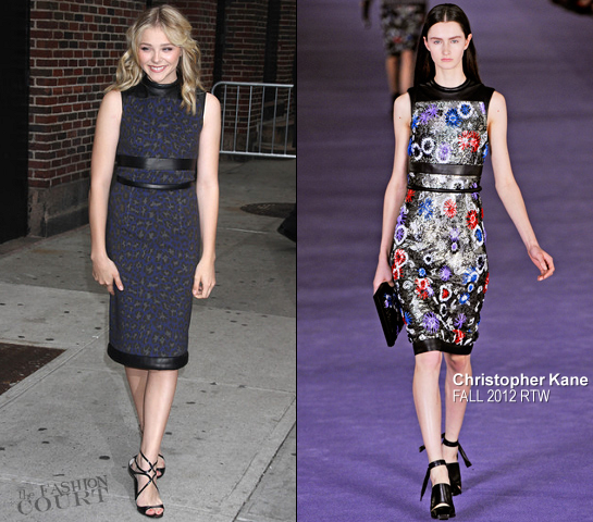 Chloe Moretz in Christopher Kane | 'Late Show with David Letterman'
