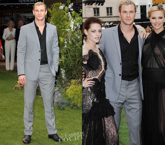Chris Hemsworth in Burberry | 'Snow White and the Huntsman' London Premiere