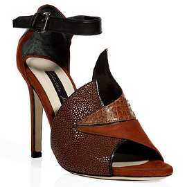 Chrissie Morrison Rust Stingray and Suede Sandals