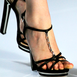 Christian Dior Spring 2012 Chain T-Strap Sandals
