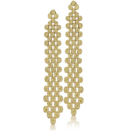 CORA Yellow Diamond Long Drop Earrings