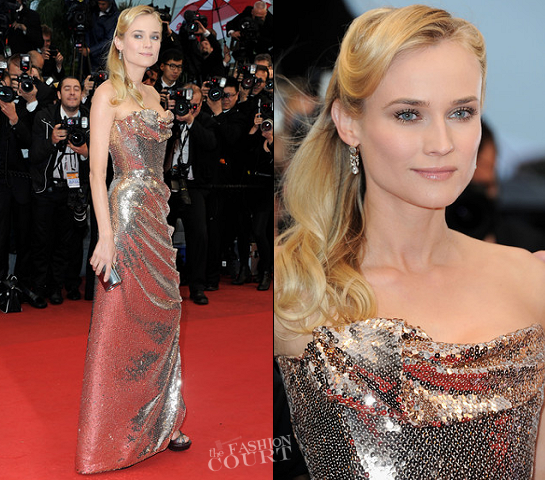 Diane Kruger in Vivienne Westwood Couture | 2012 Cannes Film Festival - 'Amour' Premiere