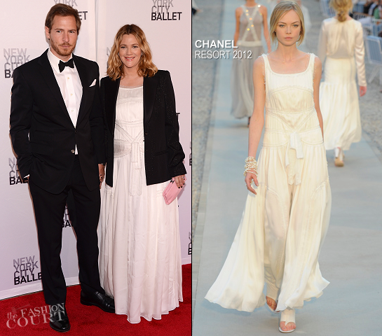 Drew Barrymore in Chanel | New York City Ballet's 2012 Spring Gala