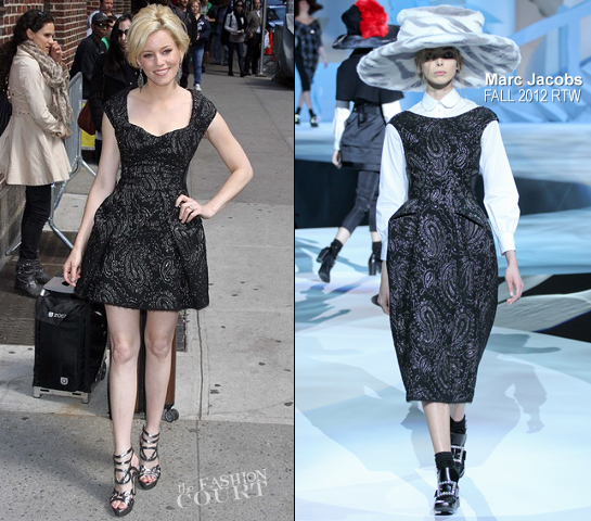 Elizabeth Banks in Marc Jacobs | 'Late Show with David Letterman'