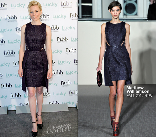 Elizabeth Banks in Matthew Williamson | Lucky's FABB: Fashion and Beauty Blog Conference