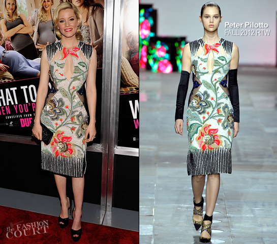 Elizabeth Banks in Peter Pilotto | 'What To Expect When You're Expecting' NY Screening