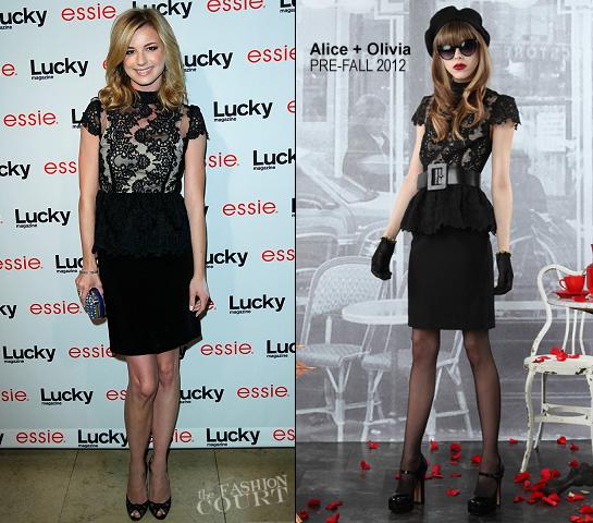 Emily VanCamp in Alice + Olivia | Lucky Magazine & Essie Celebrate June Cover