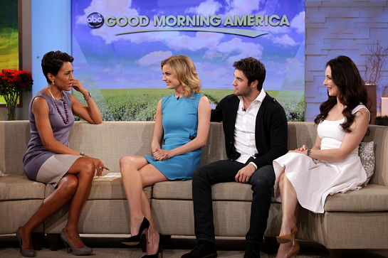 Emily VanCamp in Stella McCartney | 'Good Morning America'