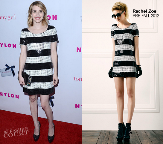 Emma Roberts in Rachel Zoe | NYLON's Annual Young Hollywood Issue Celebration