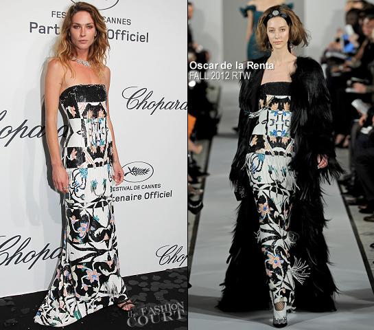 Erin Wasson in Oscar de la Renta | Chopard Mystere Party - 2012 Cannes Film Festival