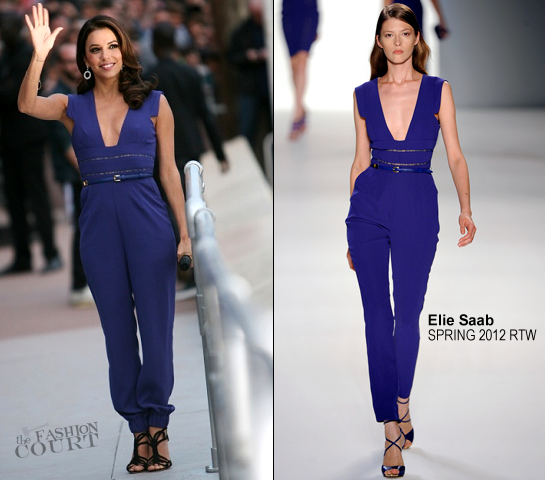 Eva Longoria in Elie Saab | 'Le Grand Journal' - 2012 Cannes Film Festival