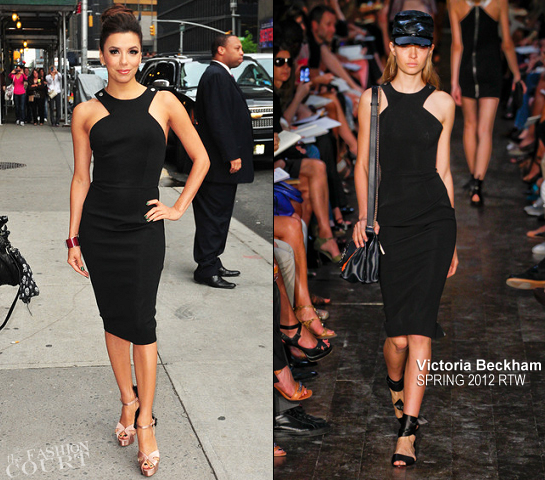 Eva Longoria in Victoria Beckham | 'Late Show with David Letterman'