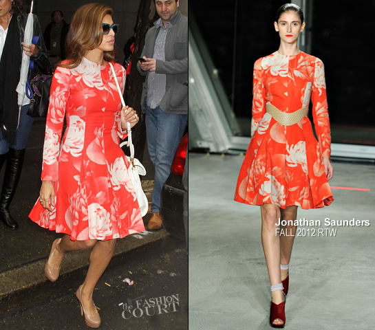 "Eva Mendes in Jonathan Saunders | NBC's The ""Today"" Show"