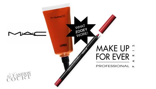 From Tip-to-Toe: Zooey Deschanel Rocks Orange Crush Lips!