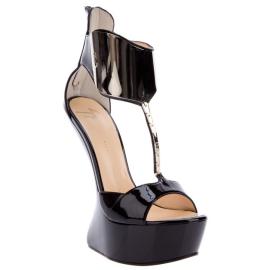Giuseppe Zanotti Sculpted Heel-Less Platform Sandal