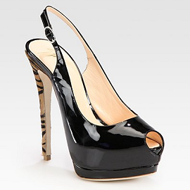 Giuseppe Zanotti Patent Leather And Calf Hair Platform Pumps