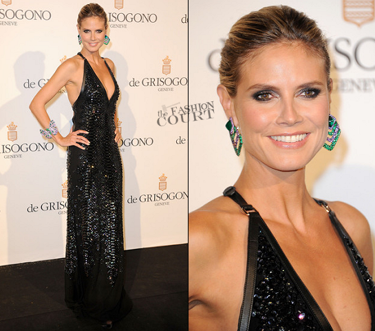 Heidi Klum in Roberto Cavalli | De Grisogono Party - 2012 Cannes Film Festival