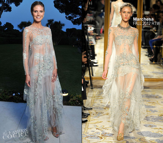 Heidi Klum in Marchesa | amfAR's Cinema Against AIDS 2012