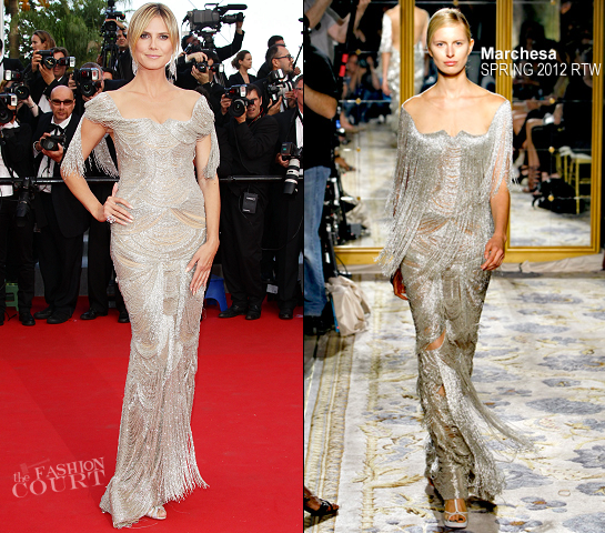 Heidi Klum in Marchesa | 'The Paperboy' Premiere - 2012 Cannes Film Festival