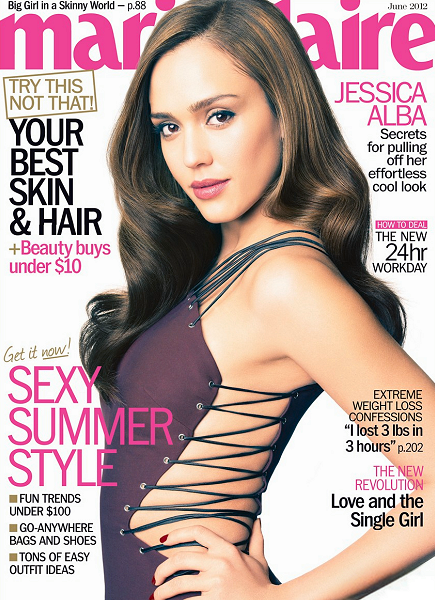 Cover Girl: Jessica Alba for the June 2012 Issue of Marie Claire!