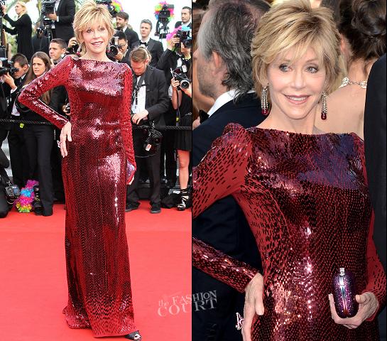 Jane Fonda in Roberto Cavalli | 2012 Cannes Film Festival - 'Madagascar 3' Premiere