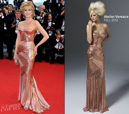 Jane Fonda in Atelier Versace | 2012 Cannes Film Festival Opening Ceremony & 'Moonrise Kingdom' Premiere