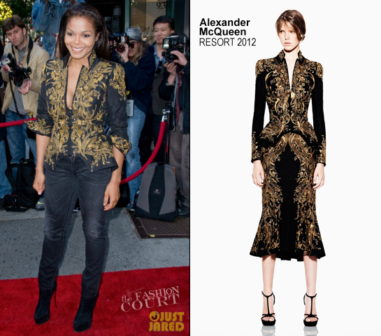 Janet Jackson in Alexander McQueen | Marco Glaviano's Supermodels Exhibition Opening