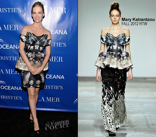 January Jones in Mary Katrantzou | 'La Revolution Bleue' NY Special Screening