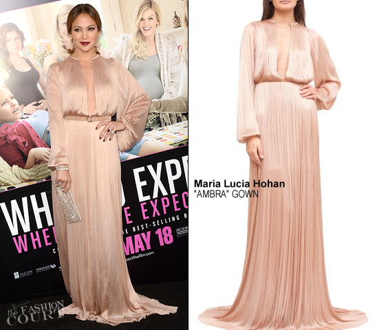 Jennifer Lopez in Maria Lucia Hohan | 'What to Expect When You're Expecting' Hollywood Premiere