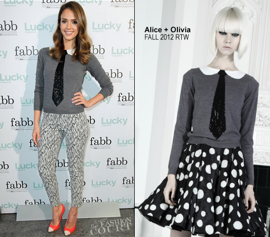 Jessica Alba in Alice + Olivia | Lucky's FABB: Fashion and Beauty Blog Conference