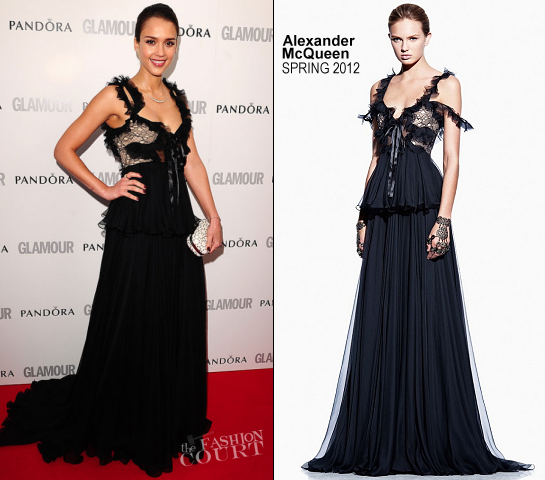 Jessica Alba in Alexander McQueen   Glamour Women of the Year Awards 2012